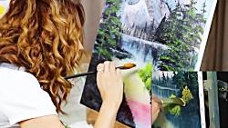 ●♡چالش کشیدن نقاشی باب راس با خامه فرم گرفته به جای رنگ با روزانا؟!+توضیحات♡●