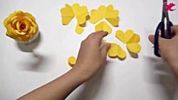 اوریگامی گل - آموزش ساخت گل رز کاغذی - کاردستی