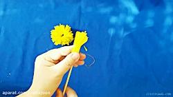 آموزش کاردستی - ساخت گل تزئینی