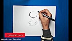 آموزش نقاشی برای کودکان - نقاشی ببر