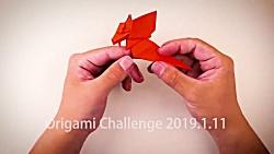 اوریگامی بچه دایناسور - آموزش ساخت بچه دایناسور کاغذی - کاردستی