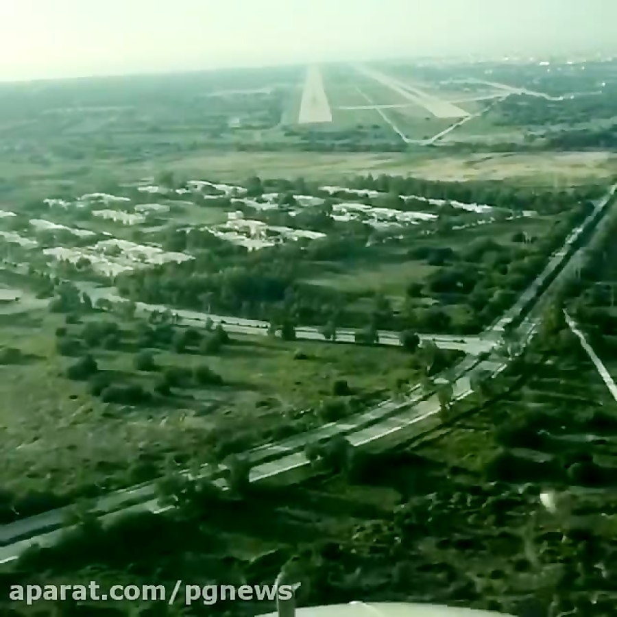 یک فرود زیبا در باند فرودگاه بوشهر