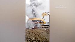 بدترین حوادث ماشین آلات سنگین - حوادث بیل مکانیکی