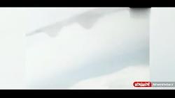فیلمی که یک مسافر از آخرین ثانیه های پرواز تهران-یاسوج گرفت