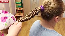 آموزش بافت و شینیون موی دخترانه - آرایش مو - شینیون دخترانه
