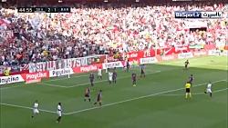 خلاصه بازی سویا 2-4 بارسلونا (هتریک مسی)