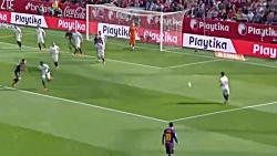 خلاصه بازی بارسلونا و سویا ۴_۲