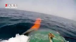 """لحظه شلیک موشک کروز از زیردریایی """"غدیر"""""""