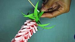 اوریگامی گل - آموزش ساخت گل کاغذی - کاردستی