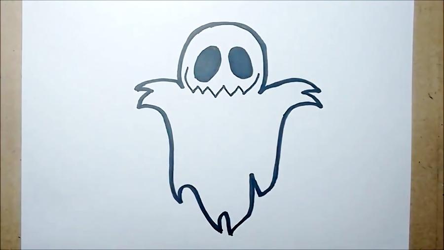 Como Desenhar Um Fantasma De Halloween