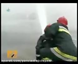شوت نجات افراد پارسیان فجر سپهر قابل نصب روی سبد آتشنشانی