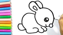 آموزش نقاشی کودکان-نقاشی خرگوش