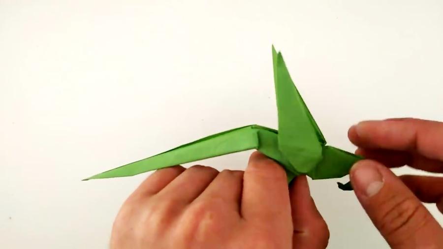 اوریگامی طوطی - آموزش ساخت طوطی کاغذی - کاردستی