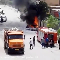 انفجارخودروی پیکان هنگام سوخت گیری با کپسول گاز