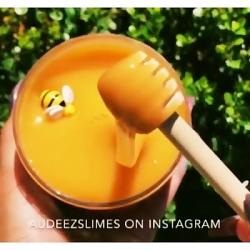 اسلایم عسل با زنبور عسل❤فالو:فالو