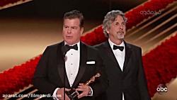 لحظه اعلام و اهدای جایزه اسکار فیلم نامه اورجینال به فیلم کتاب سبز