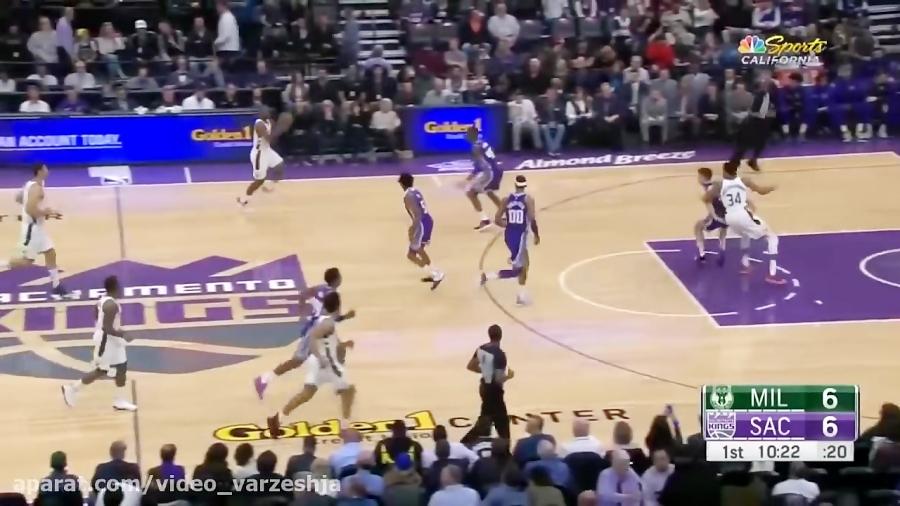 ساکرامنتو کینگز-میلواکی باکس چهار شنبه ۲۷ فوریه NBA