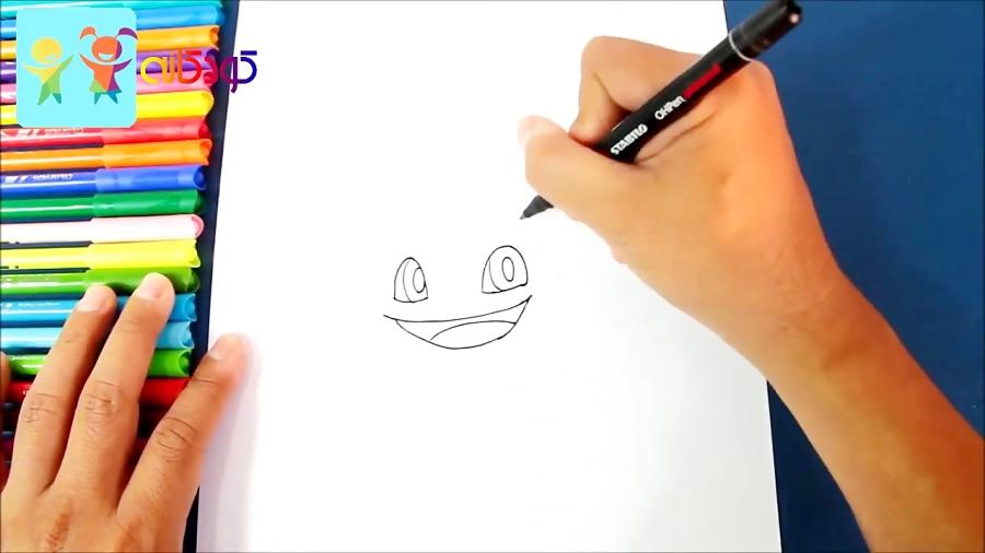 بولباسور شاد - آموزش نقاشی کودکان - کانال کودکانه