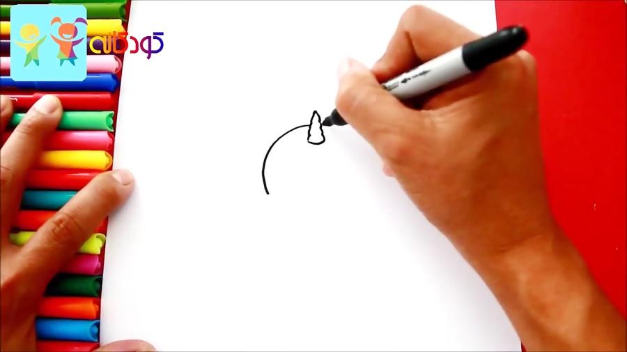 تک شاخ خوابالو - آموزش نقاشی کودکان - کانال کودکانه