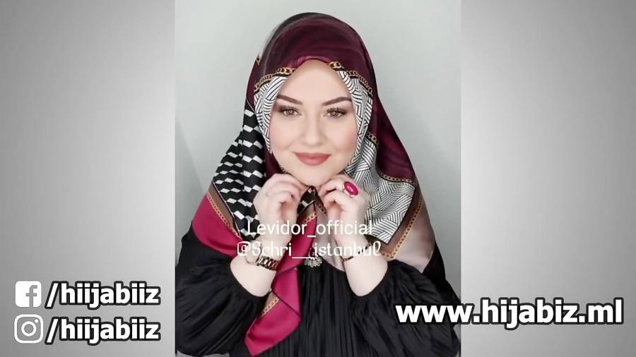 مدل و ایده زیبای بستن روسری