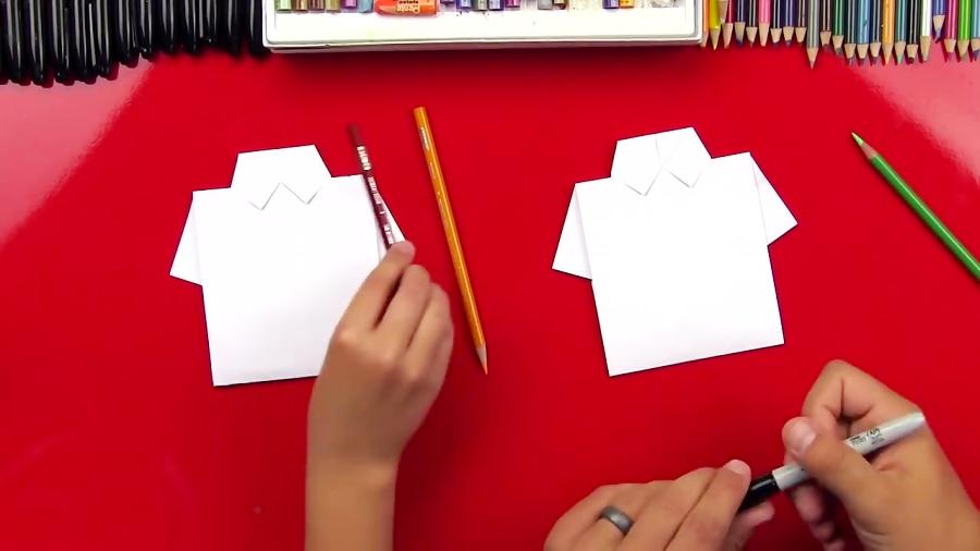 اوریگامی بلوز مردانه - آموزش ساخت بلوز مردانه کاغذی - کاردستی