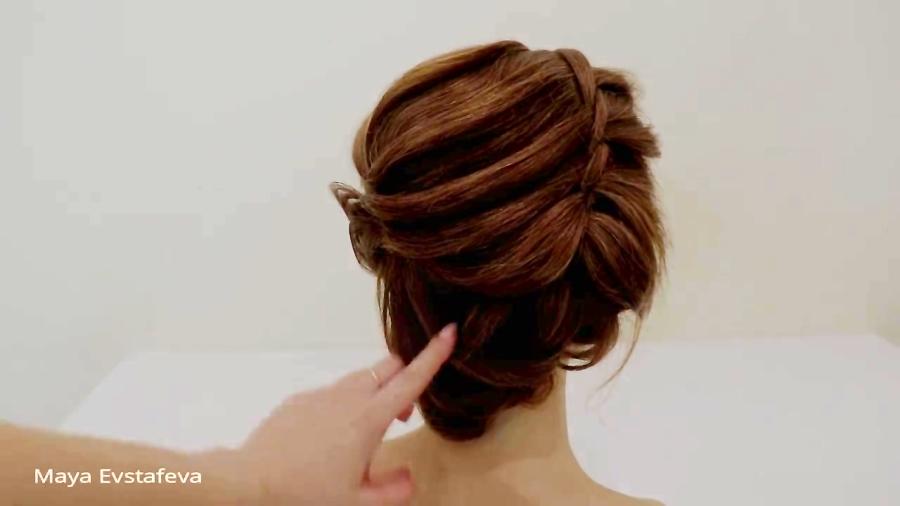 شینیون های زیبا برای موهای کوتاه