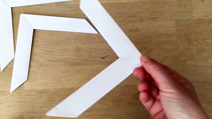 اوریگامی بومرنگ - آموزش ساخت بومرنگ کاغذی - کاردستی