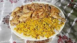 طرز تهیه نخودپلو با مرغ