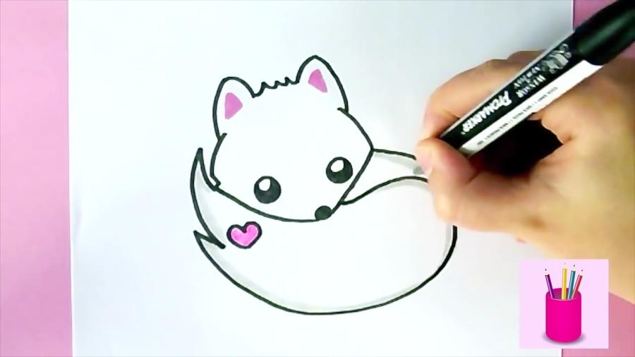 Comment dessiner un Renard Blanc Kawaii | DESSIN FACILE