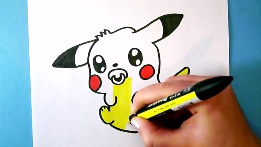 Comment Dessiner Pikachu Bebe Kawaii Dessin Kawaii دیدئو Dideo