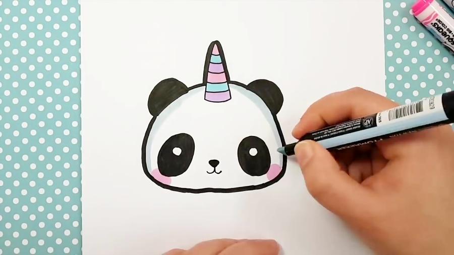 Comment Dessiner Un Panda Licorne Kawaii Emoji
