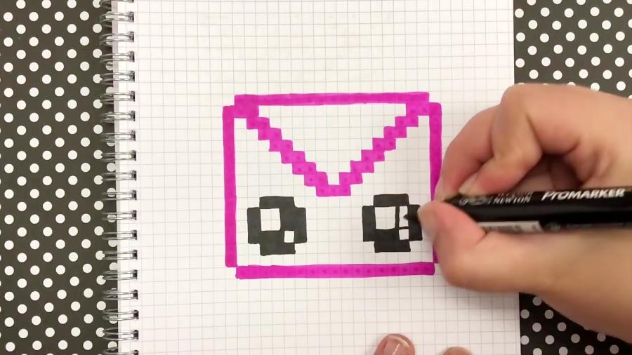 Tuto Pixel Art Comment Dessiner Une Enveloppe Kawaii