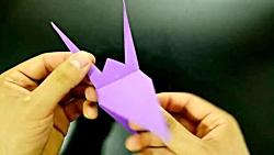 اوریگامی دایناسور پرنده - آموزش ساخت دایناسور پرنده کاغذی - کاردستی