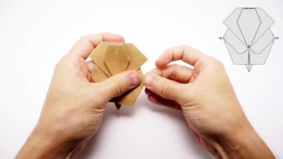اوریگامی فیل - آموزش ساخت فیل کاغذی - کاردستی