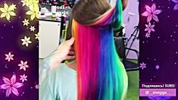 طرح موی رنگین کمانی: رنگ کردن مو بصورت رنگین کمانی