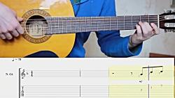 آموزش آهنگ SONG FROM  A SECRET GARDEN با گیتار