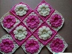 آموزش بافت کیف قلاب بافی طرح گل بسیار زیبا - کیف بافتنی