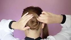 آموزش بافت مو مدل دم خرگوشی