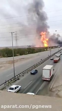 انفجار خط لوله نفت در اهواز
