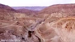 مجموعه آبشارهای زیبای زرین آباد در شهرستان دهلران