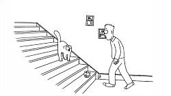 انیمیشن طنز گربه سایمون - راه پله