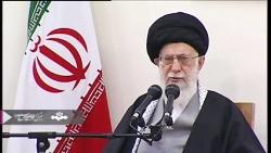 رهبر انقلاب_ بسیج همه امکانات آمریکا و صهیونیست ها بر ضد ملت ایران