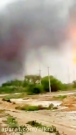 فیلمی از نمای نزدیک انفجار امروز لوله گاز در اهواز