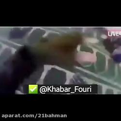 حمله مرد مسلح به افراد در مسجد(زنده)