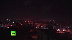 لحظه انهدام موشک شلیک شده از غزه توسط سامانه گنبد آهنین ارتش اسرائیل