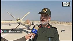 حمله فوجی پهپادها توسط 50 پهپاد RQ170 ایرانی
