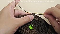 آموزش بافت کیف قلاب بافی بسیار زیبا کد 704 (قسمت 1) - کیف بافتنی