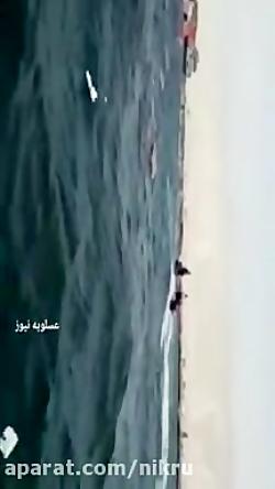غرق شدن لنج باری در نزدیکی اسکله عسلویه