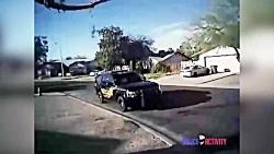 لحظه شلیک افسر آمریکایی به سگ پیت بال