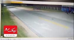 شاخ به شاخ مرگبار دو دستگاه موتورسیکلت